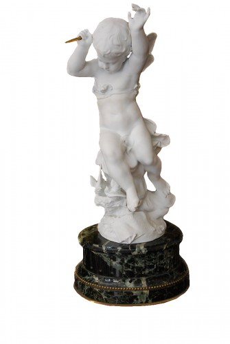Biscuit figure of Cupid, late 19th century