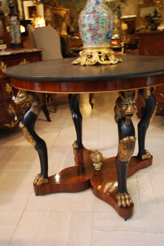 "Table guéridon dite ""à la Maréchal"" d'époque Empire - Mobilier Style Empire"