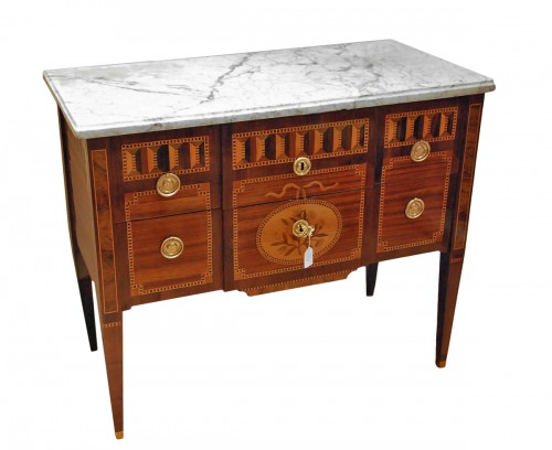Commode sauteuse d'époque Louis XVI