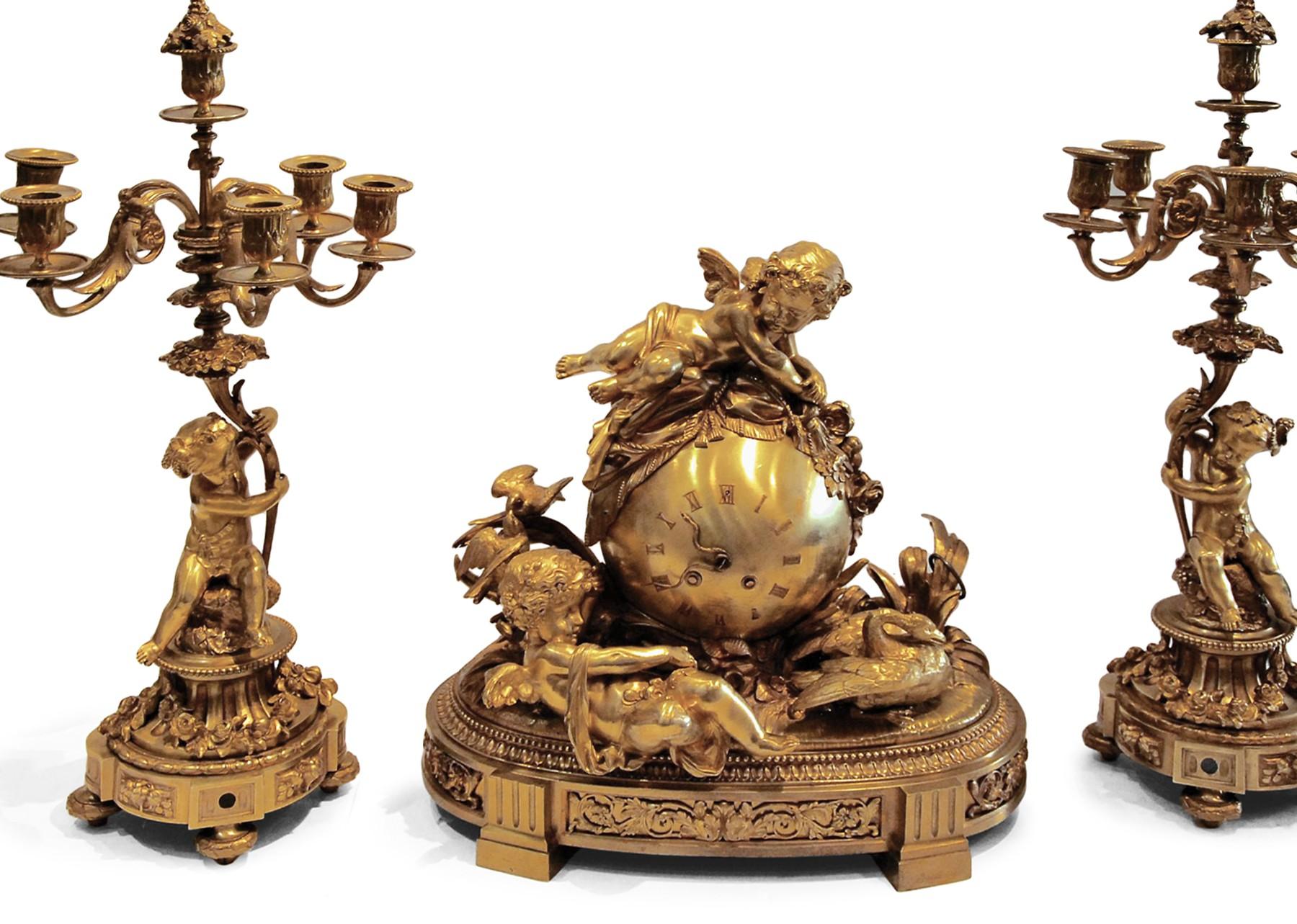 Garniture De Cheminee D Epoque Napoleon Iii Xixe Siecle N 73177