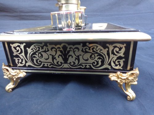 Napoléon III - Big inkstand in Boulle style marquetry of napoleon iii period