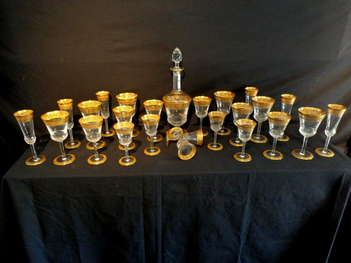 Service de 25 pi ces en cristal de saint louis mod le thistle anticstore an - Cristal st louis ancien ...