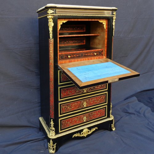 Secretary in Boulle marquetry, Napoleon III period, 19th