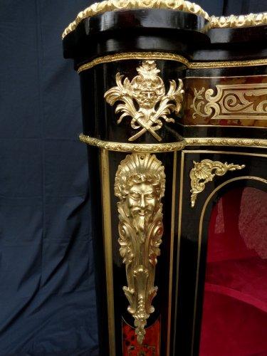 Napoléon III - Impressive french credenza 3 doors in marquetry Boulle. period Napoléon III