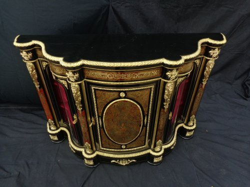 Antiquités - Impressive french credenza 3 doors in marquetry Boulle. period Napoléon III