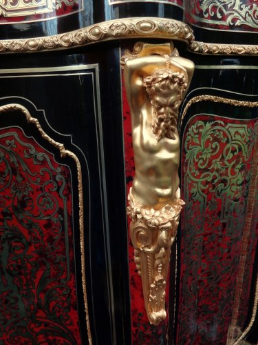 Antiquités - Impressive furniture in Boulle marquetry. Period Napoléon III