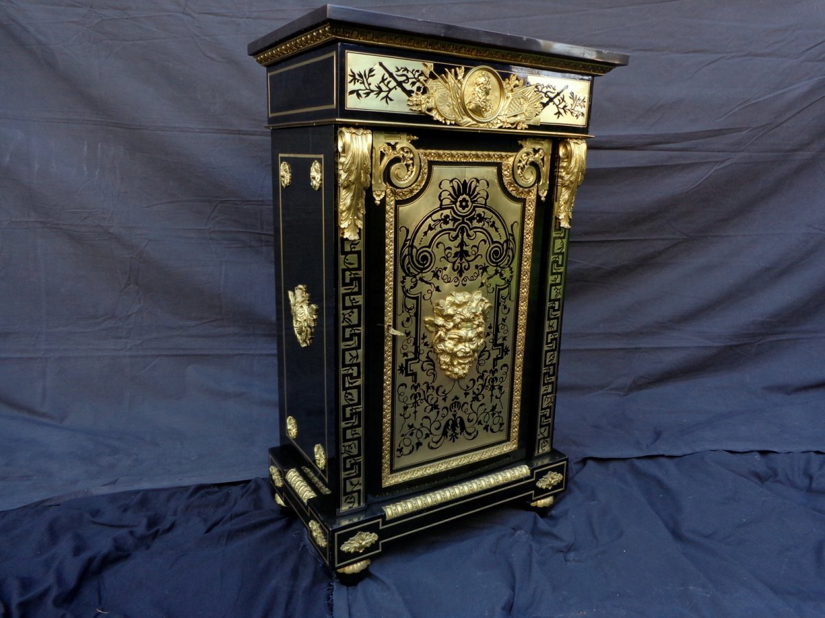 Meuble Estampill De Befort En Marqueterie Boulle Epoque