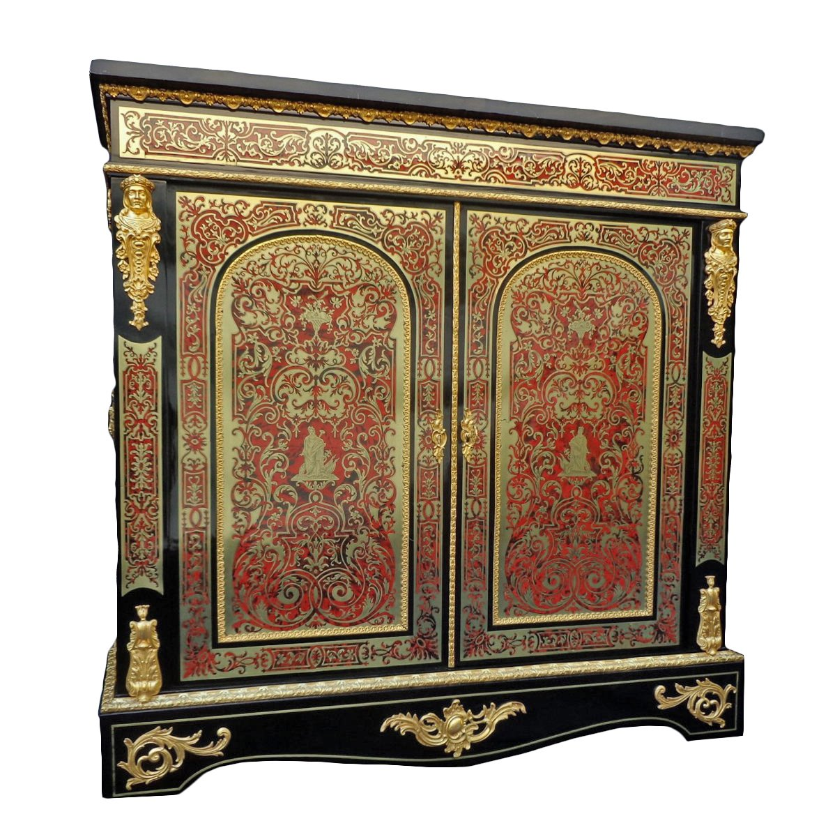 meuble d 39 appui en marqueterie boulle epoque napol on iii xixe si cle. Black Bedroom Furniture Sets. Home Design Ideas