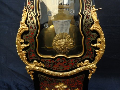 Impressive clock longcase in Boulle marquetry  Stamped TEXLER - Napoléon III