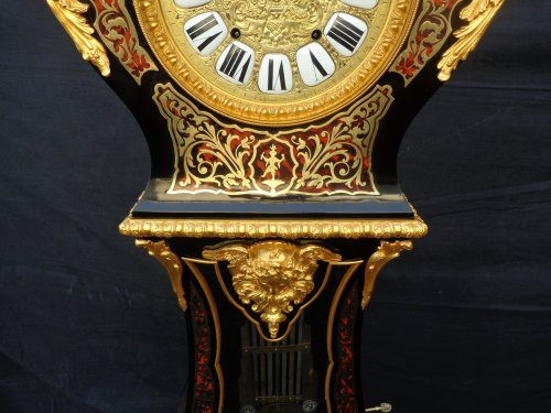Antiquités -  Impressive clock longcase in Boulle marquetry  Stamped TEXLER