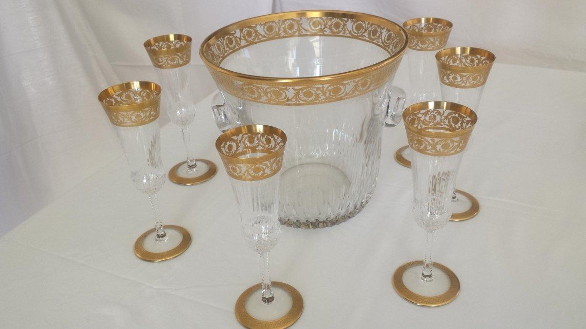 Seau et flutes champagne en cristal de saint louis for Craft stores st louis