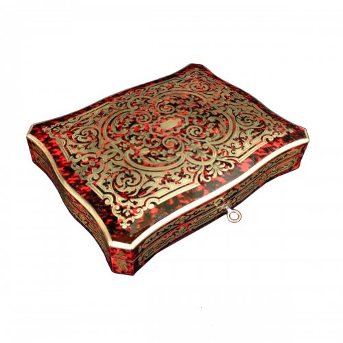 Games Box Boulle marquetry 19th  Napoleon III Period
