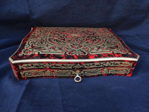 Games Box Boulle marquetry 19th  Napoleon III Period - Objects of Vertu Style Napoléon III