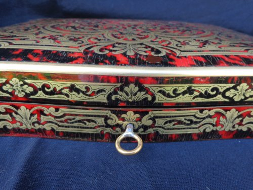 Objects of Vertu  - Games Box Boulle marquetry 19th  Napoleon III Period