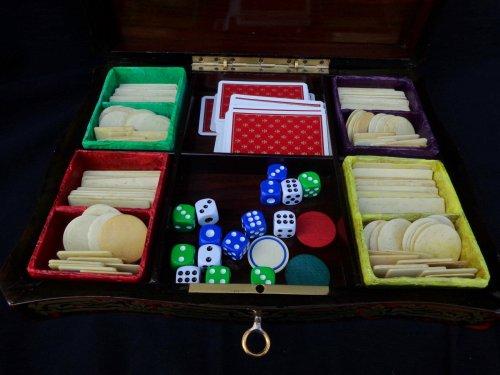 Napoléon III - Games Box Boulle marquetry 19th  Napoleon III Period