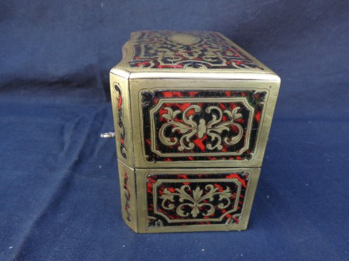 19th century -  Fragrancy Box in Boulle marquetry 19th Century  Napoleon III Period
