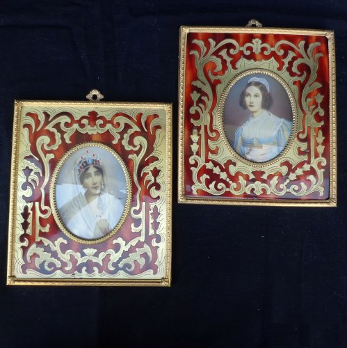 Napoléon III - Pair of Paint in Boulle marquetry Napoléon III period 19th