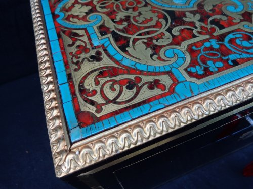 Antiquités - Set ofBoulle marquetry turquoise boxes Napoléon III period 19th century