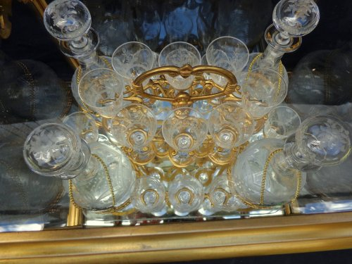 Decorative Objects  - French 19th century glass and bronze Cave a liqueur