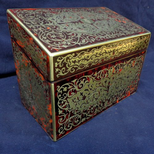 19th century Desk set in Boulle style marquetry  - Decorative Objects Style Napoléon III
