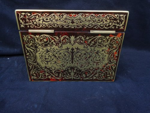 19th century Desk set in Boulle style marquetry  -