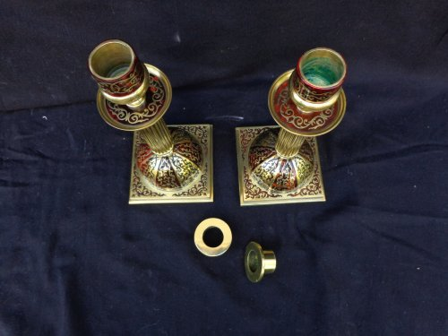 Napoléon III - 19th century Desk set in Boulle style marquetry