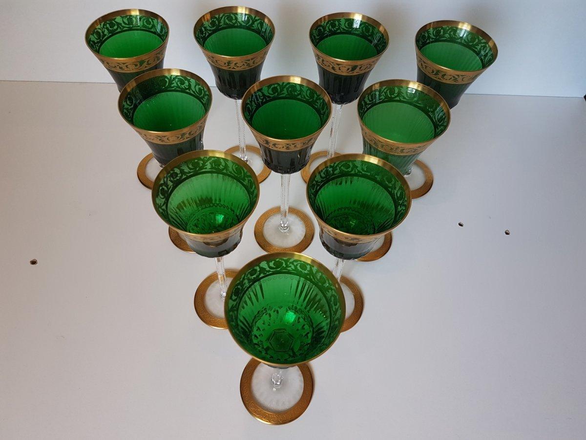 Verres roemers en cristal de st louis mod le thistle or for Craft stores st louis