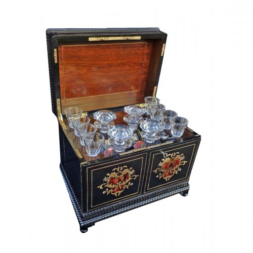 Napoleon III Boulle marquetry Tantalus Box