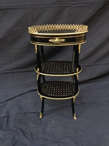 Small table in Boulle marquetry Pearl 19th  Napoleon III period - Furniture Style Napoléon III