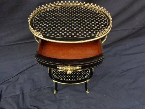Small table in Boulle marquetry Pearl 19th  Napoleon III period -