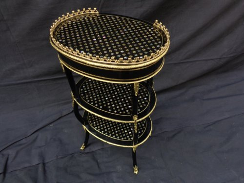 19th century - Small table in Boulle marquetry Pearl 19th  Napoleon III period