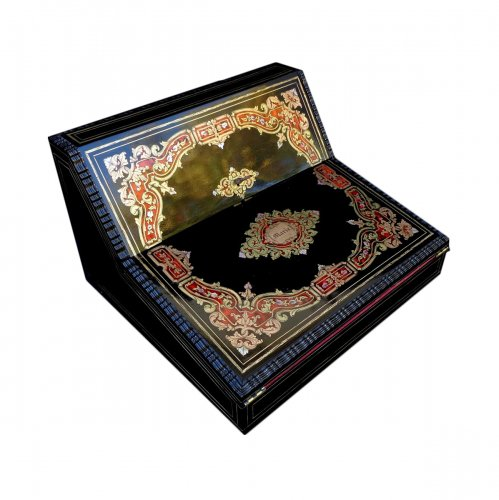 Writing case GIROUX in Boulle marquetry Napoleon III period 19th