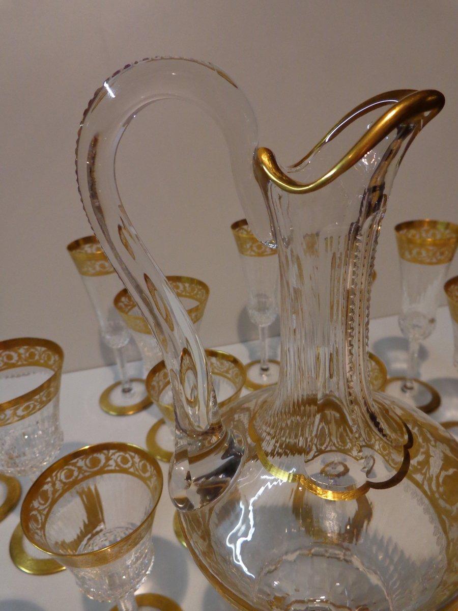 st louis thistle or service d 39 une carafe et 18 verres xxe si cle. Black Bedroom Furniture Sets. Home Design Ideas