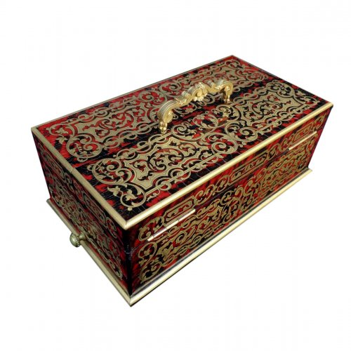 Pencil Box of Lord in Boulle marquetry Napoléon III period