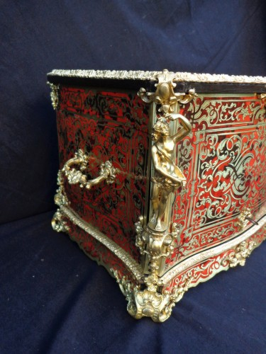 A late 19th century Boulle style Cave a liqueur - Decorative Objects Style Napoléon III
