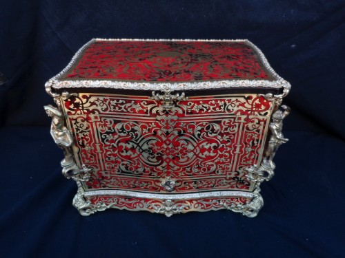 A late 19th century Boulle style Cave a liqueur -