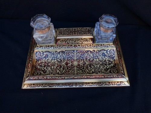 An english Boulle style Desk set, late 19th century - Decorative Objects Style Napoléon III