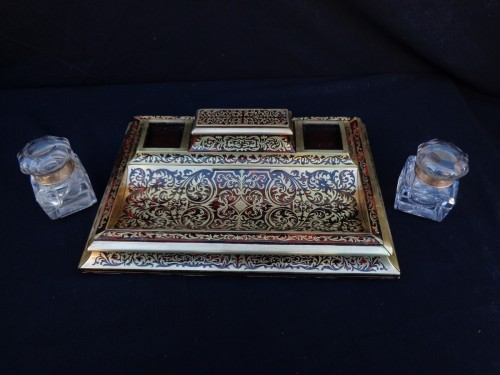 19th century - An english Boulle style Desk set, late 19th century