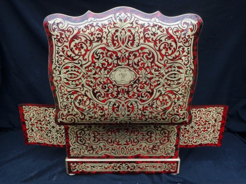 Boulle style marquetry Napoleon III Cave a liqueur Stamped Th Année  - Decorative Objects Style Napoléon III