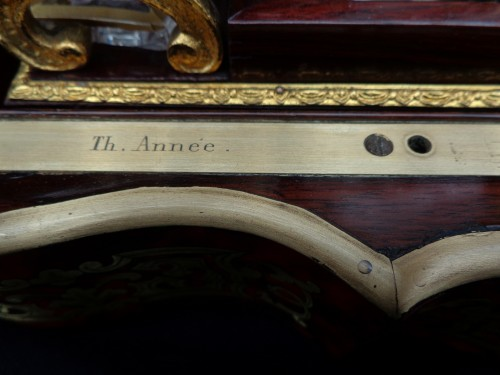 Boulle style marquetry Napoleon III Cave a liqueur Stamped Th Année  -
