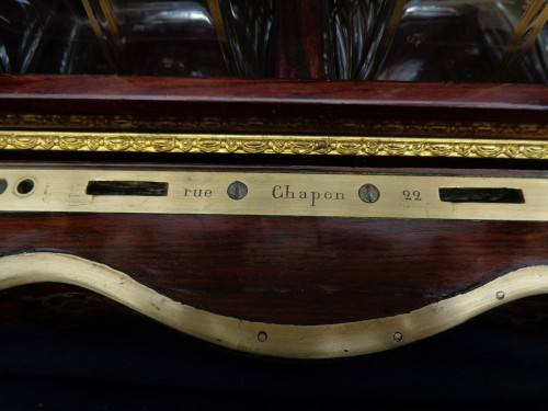 Antiquités - Boulle style marquetry Napoleon III Cave a liqueur Stamped Th Année