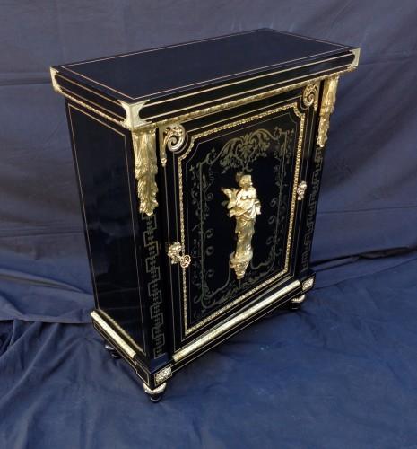 Antiquités - Boulle style cabinet attributed to Béfort Jeune