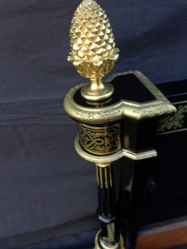 Bed with brass inlay Boulle style Napoléon III period - Napoléon III