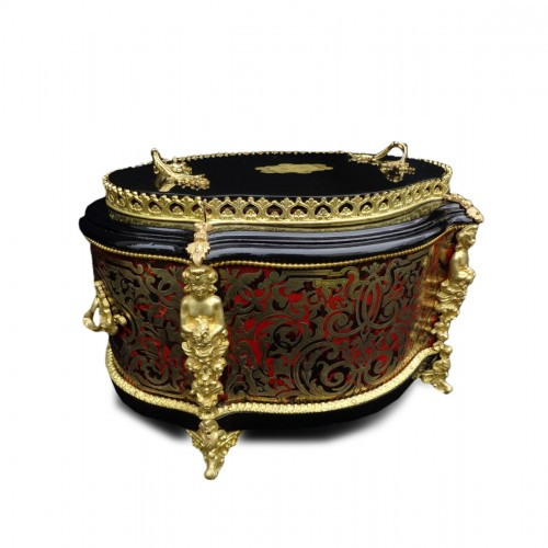 Flowers Pot in Boulle style marquetry 19th century