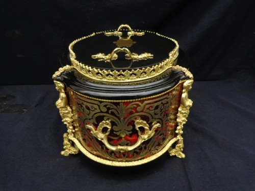 Decorative Objects  - 19th century  Boulle style marquetry Flowers Pot