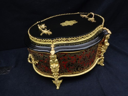 19th century  Boulle style marquetry Flowers Pot  - Napoléon III