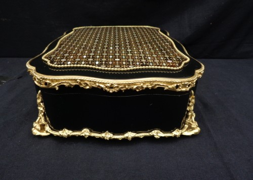 Napoléon III - Jewelery box in Boulle style marquetry