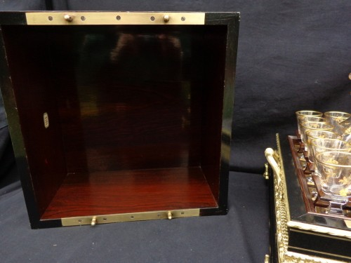 Decorative Objects  - Tantalus Box in Boulle style marquetry