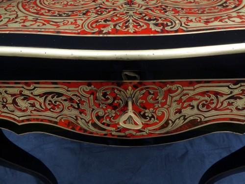 19th century Boulle style table - Furniture Style Napoléon III
