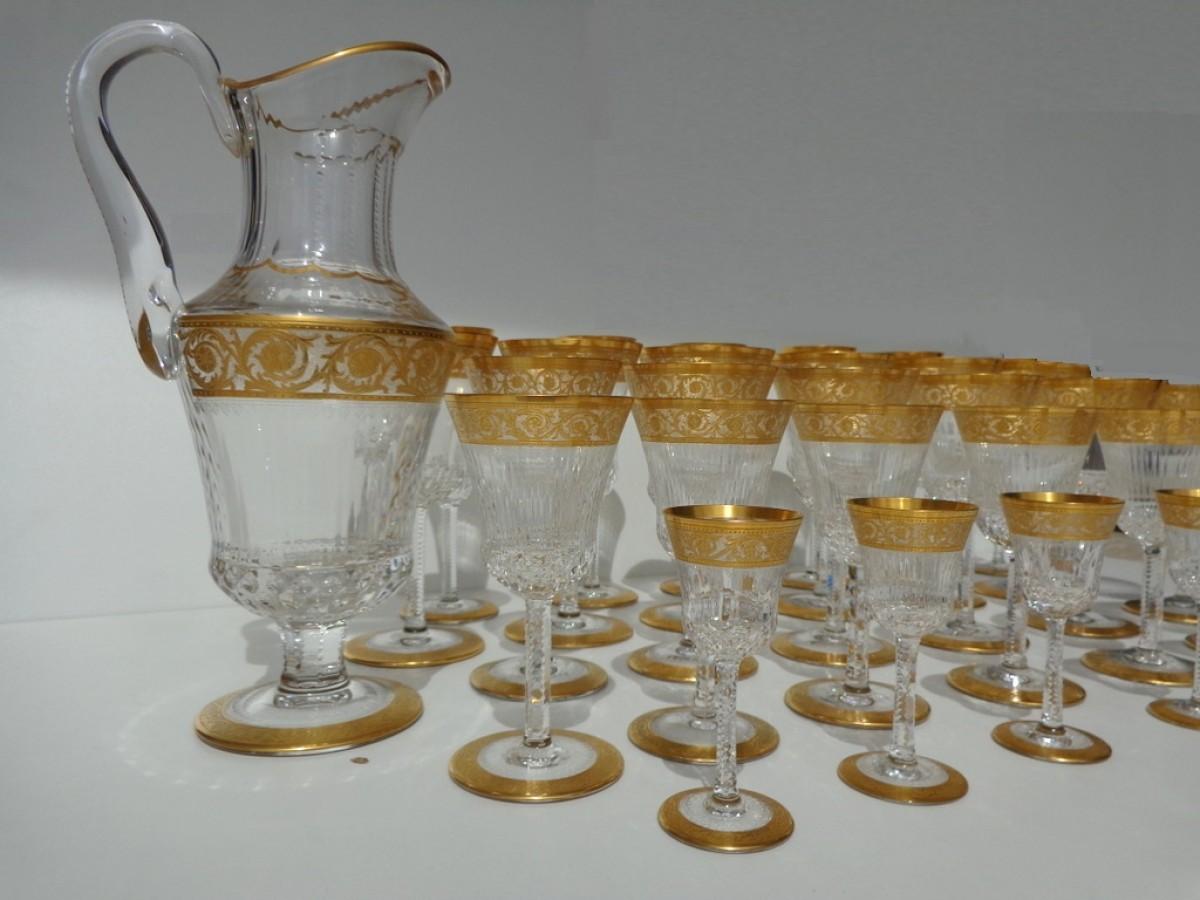 Service en cristal de saint louis sign mod le thistle or for Craft stores st louis